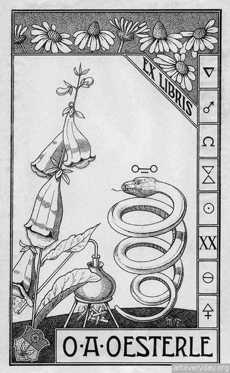 7 | Коллекция экслибрисов конца XIX - начала XX века. Часть 2 | ARTeveryday.org