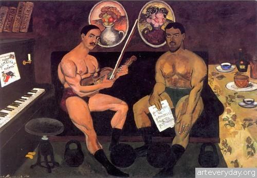 Автопортрет и портрет Петра Кончаловского. 1910 г.