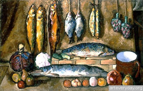 Натюрморт. Рыбы. 1910 г.