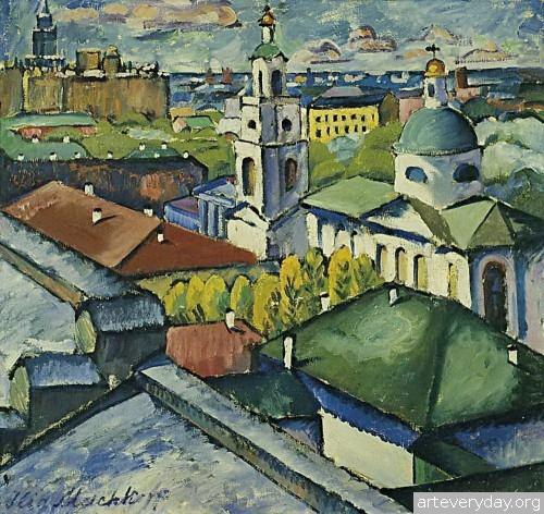 Вид Москвы. Мясницкий район. 1912-13 г.