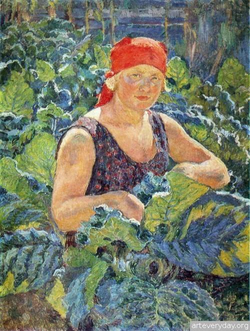 Девушка на табачной плантации. 1930 г.