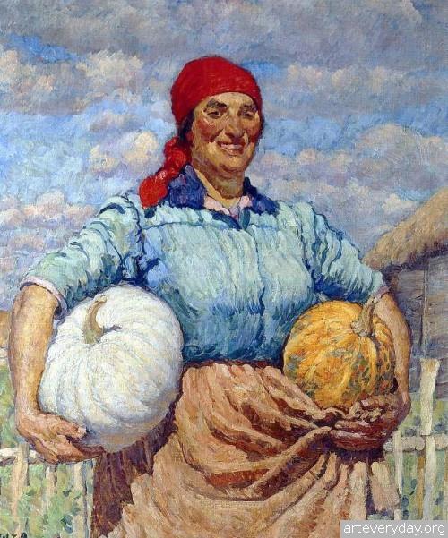 Колхозница с тыквами. 1930 г.
