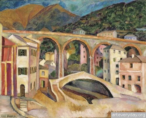 Италия. Нерви. Пейзаж с акведуком. 1913 г.